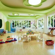 教室绿色个性吊顶展示