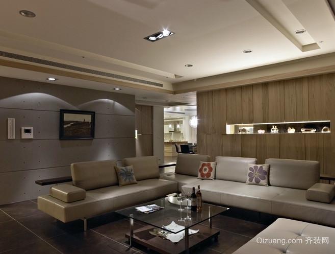 120平米现代简约风格客厅装修效果图设计