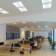 现代简约风格办公室吊顶装饰