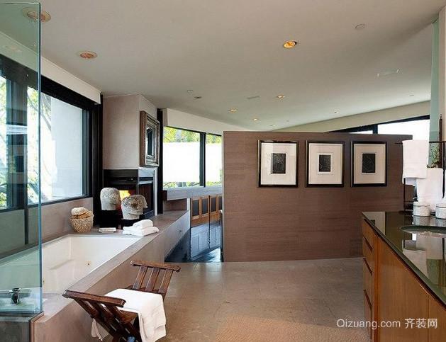 别墅专用欧式风格大型卫生间浴室装修效果图