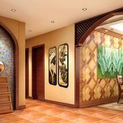 玄关彩色背景墙