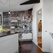 别墅厨房置物架背景墙