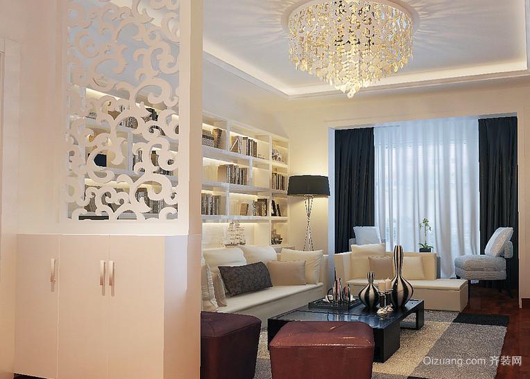 大气的欧式小户型客厅隔断装修效果图