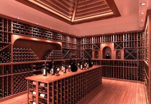 现代化气息别墅酒窖设计效果图