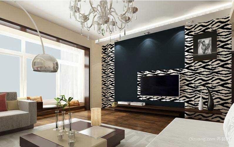 家居时尚马赛克背景墙装修效果图