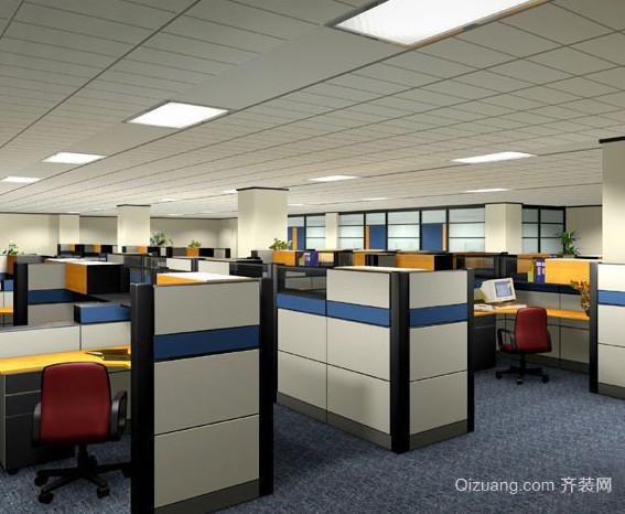 现代简约风格大型写字楼办公处装修效果图