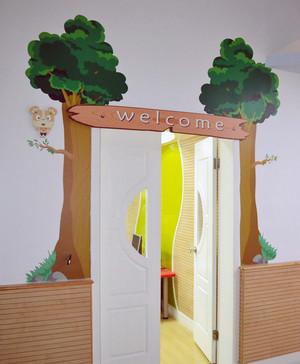 现代都市幼儿园教室布置设计效果图