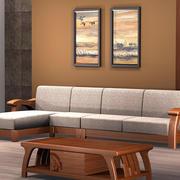 中式客厅沙发背景墙设计