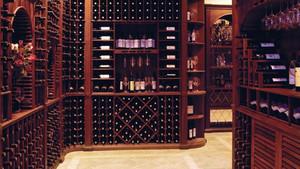 酒量充足:深色调别墅酒窖设计效果图