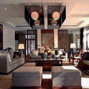 中式客厅吊灯装修唯美图