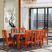 餐厅实木餐桌椅装修实景图