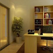 温馨黄色书房展示