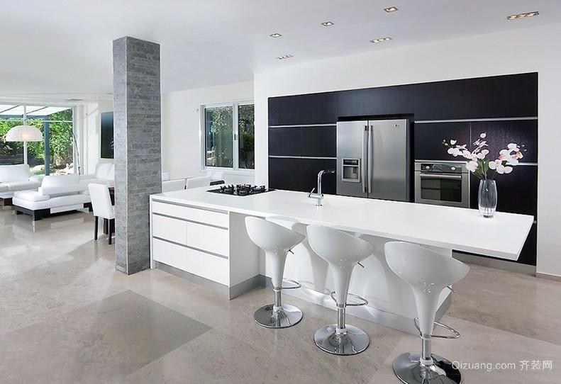 现代欧式大户型开放式厨房装修效果图