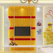 温馨型电视背景墙