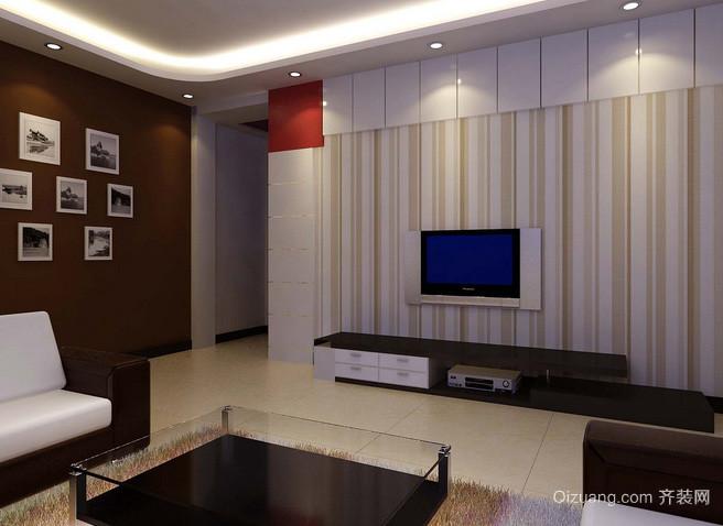 2015跃层简约风格电视背景墙设计效果图