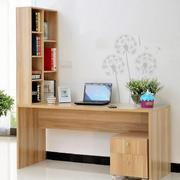书架电脑桌一体化