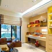 现代美式风格书房装潢