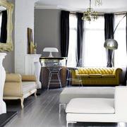 美式别墅金色沙发设计