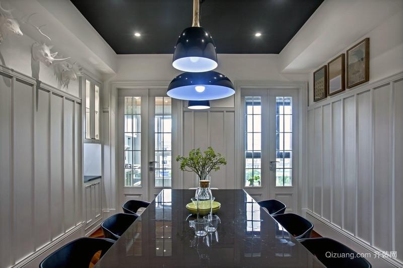 120㎡高度舒适感的公寓式住宅装修图