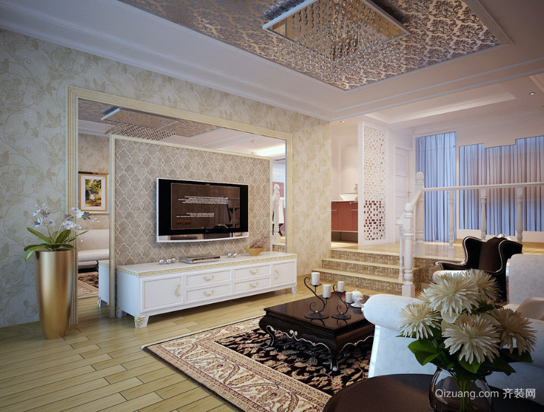 大户型欧式室内装潢设计效果图