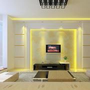 黄色调电视背景墙