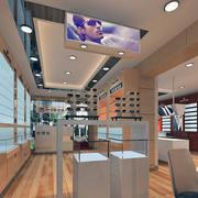眼镜店装修室内设计背景墙图