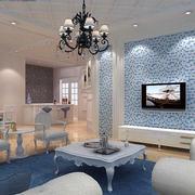 地中海风格客厅装修整体图