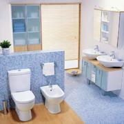 蓝色调厕所设计图片
