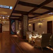 茶馆木地板设计图片