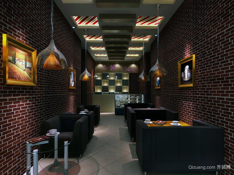 都市精美咖啡厅吊顶装修效果图