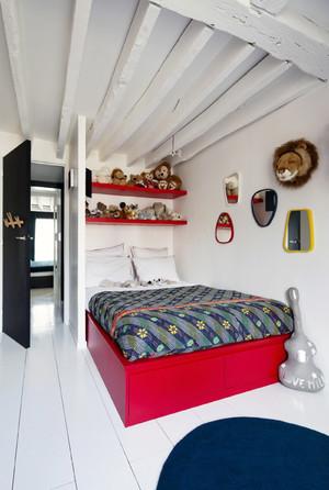 公寓内红色家居效果图
