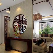 中式风格客厅玄关隔断