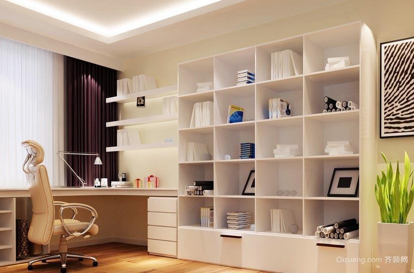 简约现代风格15平米书房装修效果图