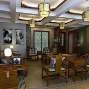 中式客厅吊灯装修色调搭配