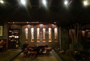 带有艺术气息的中型茶馆装修设计