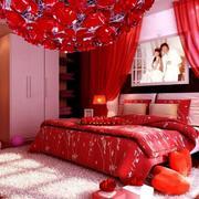 婚房红色装饰卧室