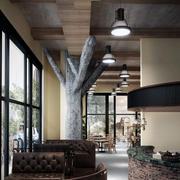 咖啡厅吊顶装修飘窗图
