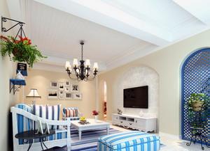 别墅型地中海风格客厅装修效果图片