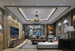 中式客厅吊灯装修效果图