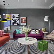 公寓彩色客厅家装配饰
