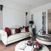 90平米房子客厅白色沙发设计