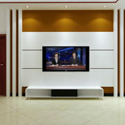 两室一厅客厅电视背景墙装饰