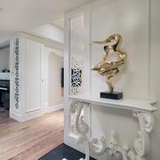 90平米客厅白色隔断设计