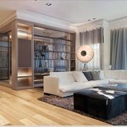 公寓客厅原木色地板