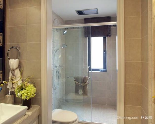 复式楼简欧风格干湿分离 卫生间 装修 效果图 齐