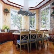 餐厅实木餐桌椅装修色调搭配