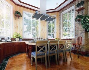 都市小户型欧式餐厅实木餐桌椅装修效果图