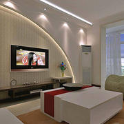 韩式清新风格电视背景墙