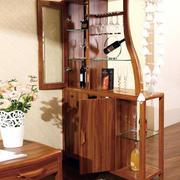 原木深色酒柜家具设计