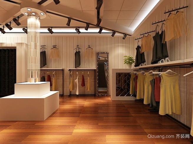 都市风格大型服装店装修设计效果图